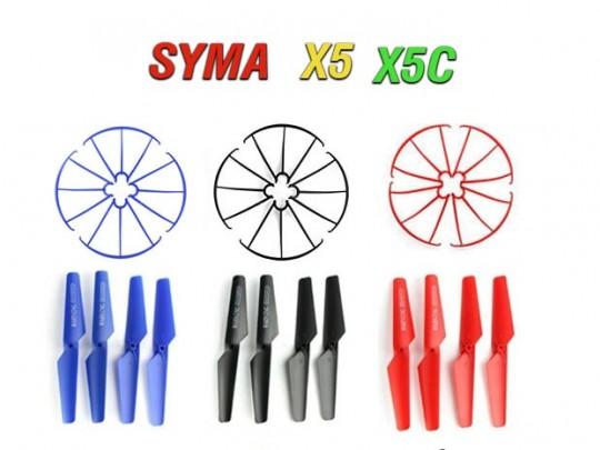 پک دوتایی پره و محافظ  پره کوادکوپتر سایما SYMA X5-X5C