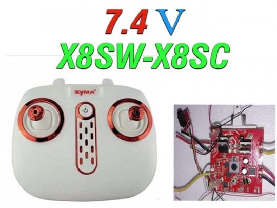دسته کنترل و مدار کوادکوپترهای سایما  x8sw-x8sc