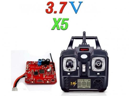 دسته کنترل و مدار کواد کوپتر مدل x5