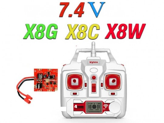 دسته کنترل و مدار کوادکوپترهای x8c-x8g-x8w