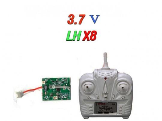 دسته کنترل و مدار کواد کوپتر مدل lh-x8