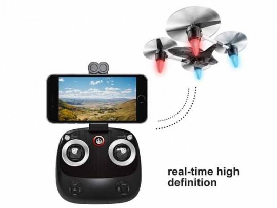 کوادکوپتر W606-7 Huajun  دارای دوربین ارسال تصویر و قابلیت کنترل با گوشی