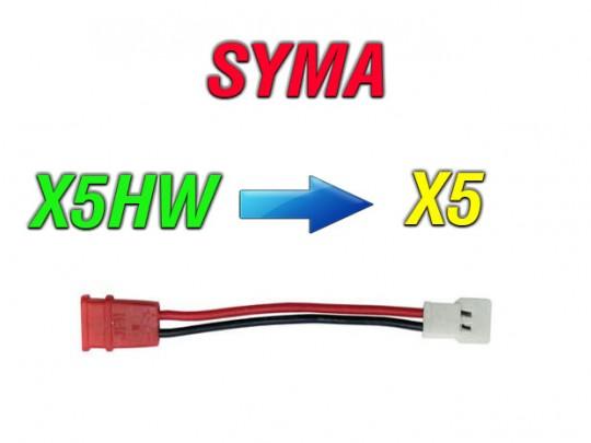 مبدل باتری کوادکوپتر سیما syma X5HW به باتری  سایما SYMA X5