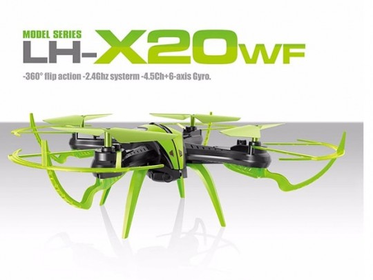 کوادکوپتر LH-X20WF با دوربین ارسال تصویر WIFI
