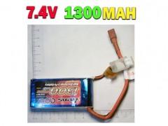 باتری لیپو 7.4 ولتی 1300 میلی آمپری هلیکوپتر کنترلی و کواد کوپتر