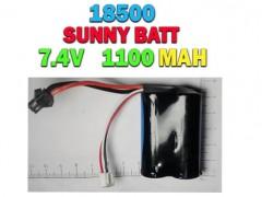 خرید باتری لیتیوم یونی 18500 ، 7.4 ولت -1100 میلی آمپر
