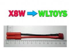 مبدل باتری کوادکوپتر سیما x8w به باتری wltoys