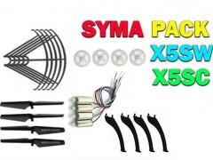 پک قطعات یدکی کوادکوپتر سیما syma x5sw-x5sc