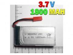 باتری لیتیوم پلیمری 3.7 ولت با ولتاژ 1800 میلی آمپر
