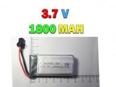 باتری لیتیوم پلیمری 3.7 ولت با ظرفیت 1800 میلی آمپر ( سوکت قفلی )