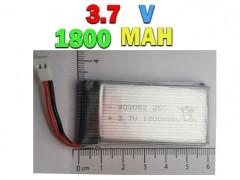باتری لیتیوم پلیمری 3.7 ولت 1800 میلی آمپری ( سوکت سفید )