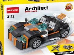 ماشین لگویی چند مدلی 256 تیکه با قابلیت ساخت 36 مدل از شرکت brick آیتم 3122