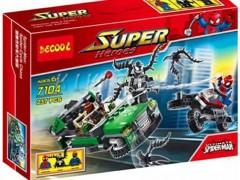 لگوی ماشین و مرد عنکبوتی 237 تیکه مدل  decool 7104