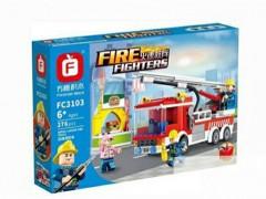 ماشین آتش نشانی لگویی 276 تیکه آیتم 3103