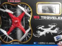 کوادکوپتر w9 با دوربین  ارسال تصویر و صفحه مانیتور