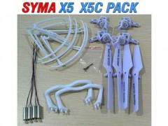 بسته قطعات یدکی کوادکوپتر سایما syma x5