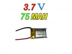 باتری لیتیوم پلیمر 3.7 ولت -75 میلی آمپر