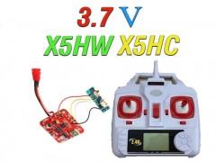 دسته کنترل و مدار کواد کوپتر مدل SYMA X5HC-X5HW