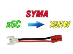 مبدل باتری کوادکوپتر syma x5 (سوکت سفید ) به باتری سایما syma x5hw-x5hc
