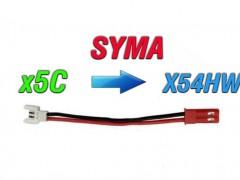 مبدل باتری کوادکوپتر سیما syma x5 به باتری  سایما x54hw-x54hc