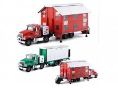ماکت کامیون مدل KAIDIWEI 663002 همراه با خانه دو طبقه
