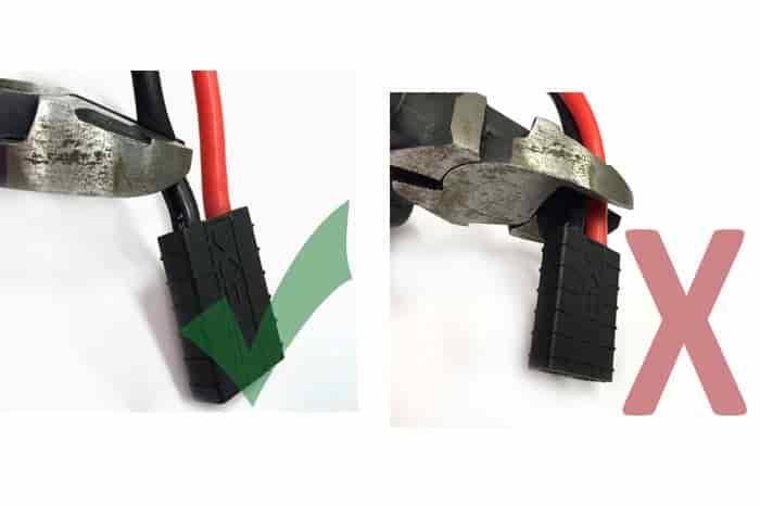 طریقه قطع کردن سیمهای باتری لیتیوم پلیمری