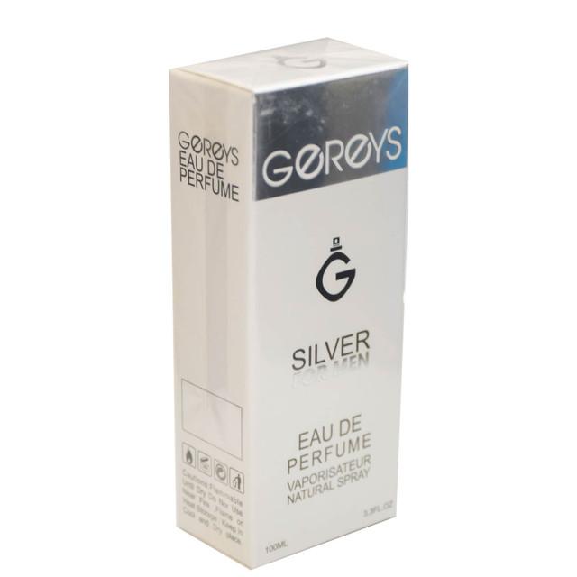 ادو پرفیوم مردانه گریس مدل SILVER FOR MEN حجم 100 میلی لیتر