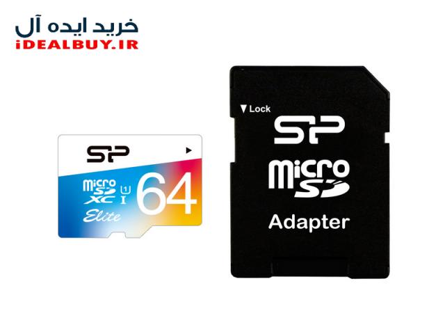 کارت حافظه Silicon Power Color Elite UHS-I U1 Class 10 85MBps microSDXC  64GB