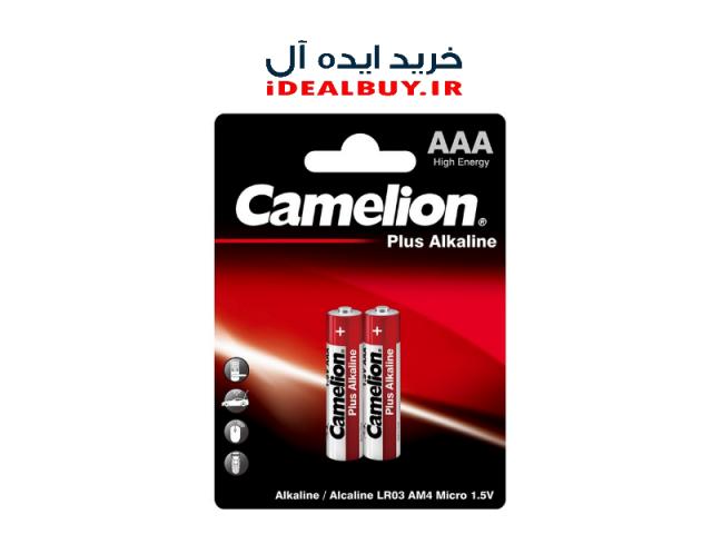 باتری نیم قلم Camelion AAA Alkaline Plus Batteries 2 Pack