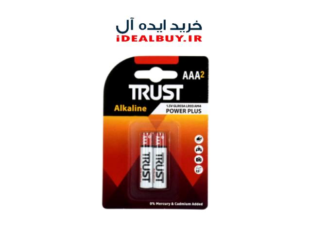 باتری نیم قلم TRUST AAA Alkaline Batteries 2 Pack