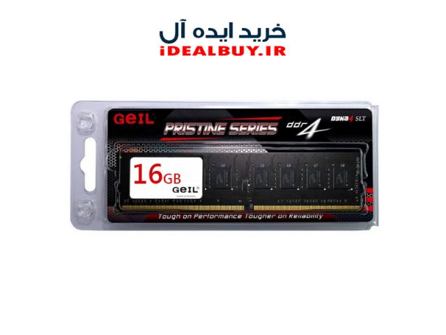 رم دسکتاپ Geil Pristine DDR4 2400MHz CL17 Single Channel Desktop RAM 16GB