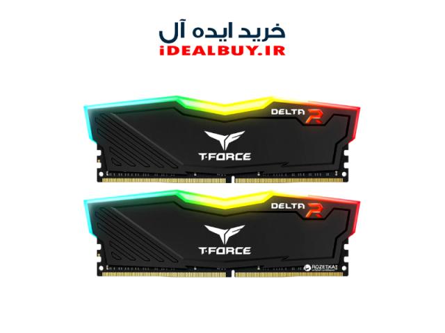 رم دسکتاپ TEAM GROUP T-FORCE DELTA RGB 32GB 16GBX2 3000Mhz CL16