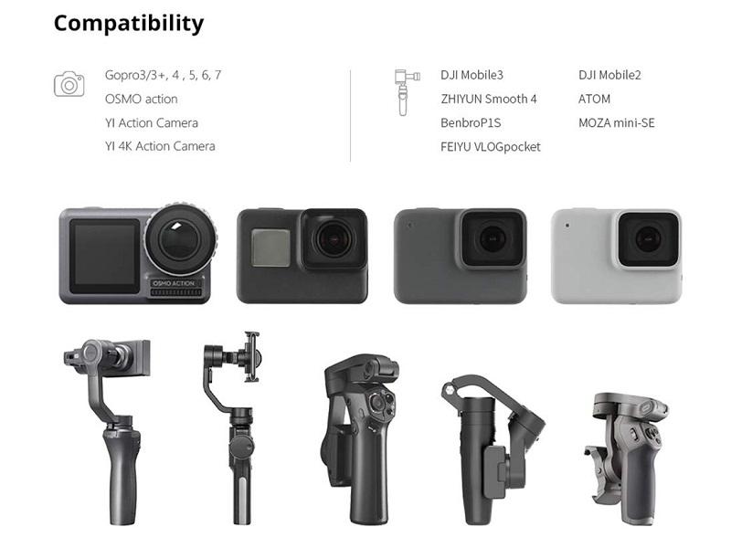 مشخصات مانت نصب دوربین گوپرو بر روی اوزمو موبایل 3