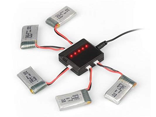 شارژ همزمان باتری کوادکوپتر سایما با هاب شارژر X5