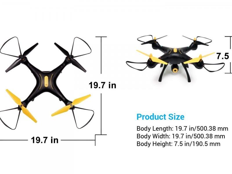 syma x8sw tenergy drone size