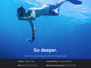 قاب ضد آب دوربین Insta360 Dive Case ONE X