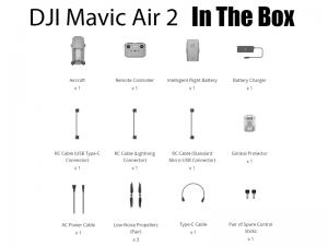 محتویات جعبه مویک ایر 2 استاندارد