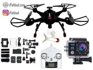 کوادکوپتر بدنه فایبرگلاس و پایه فلزی 2 Sky Hunter همراه دوربین 4K