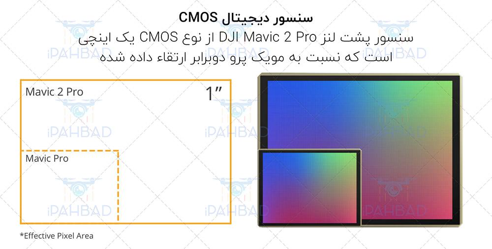 کواد کوپتر مویک 2 پرو مجهز به سنسور یک اینچی از نوع CMOS