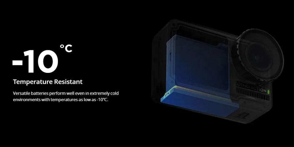 dji action camera -10 temperature resistant