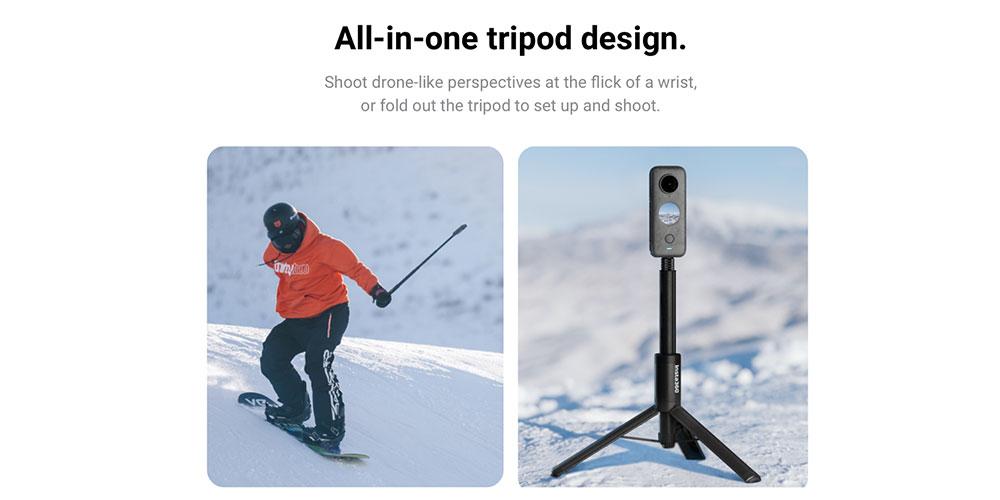 insta360 2-in-1 invisible selfie stick + tripod