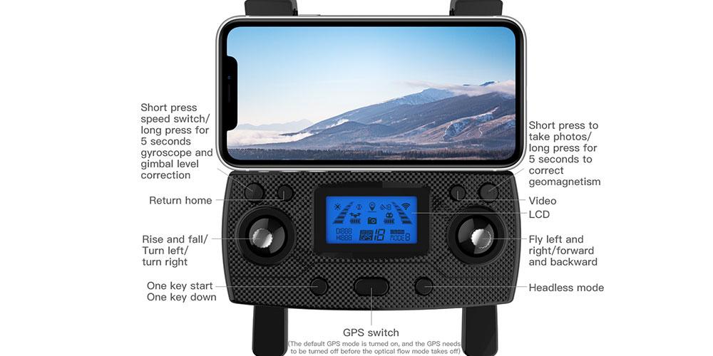 رادیو کنترل کوادکوپتر ZLRC SG907 PRO