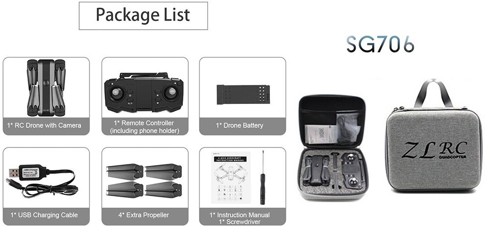 بسته بندی کوادکوپتر SG706