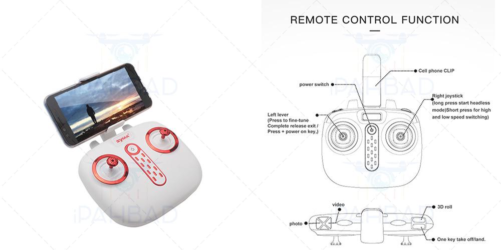 رادیو کنترل کوادکوپتر syma x25w