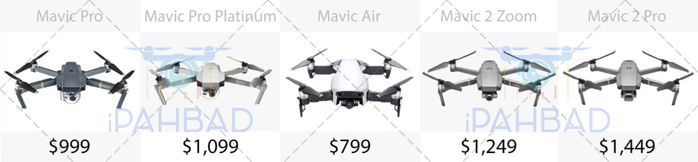 خرید هلی شات و قیمت کوادکوپتر مویک مدل های mavic pro, mavic air, mavic 2 zoom, mavic 2 pro, mavic pro platinum