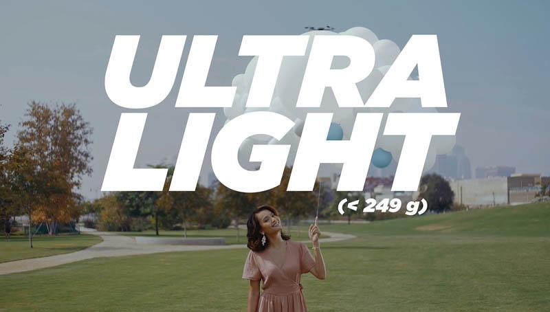 dji mini 2 ultra light 249gr