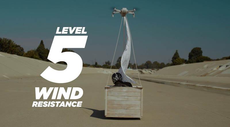dji mini 2 wind resistance 5 level