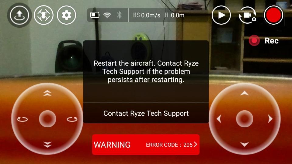 خطال کوادکوپتر تلو tello 206 error code