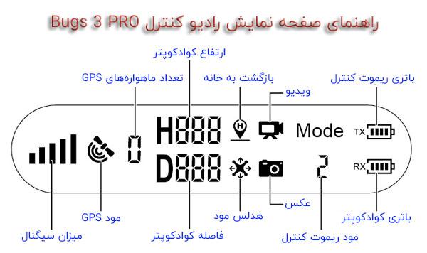 راهنمای ریموت کنترل کواد کوپتر باگز 3 پرو
