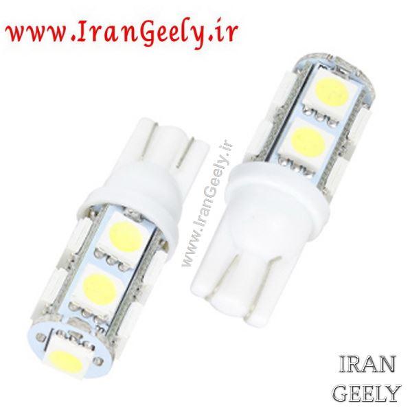 دو عدد لامپ با ۹ عدد اس ام دی W5W-T10